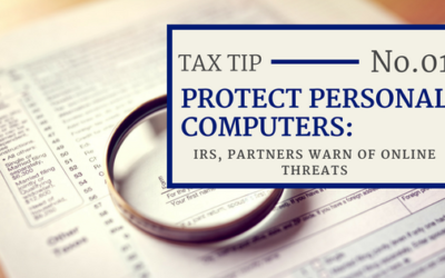 Tax Tip 001: Protecting Personal Computers